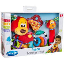 sonajeros en pack playgro puppy teether pack - comprar online