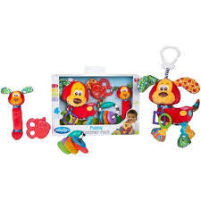 sonajeros en pack playgro puppy teether pack en internet