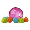 pelota encastre playgro roll and sort ball pink