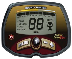 Caixa de controle do detector de metal Quick Draw Pro Bounty Hunter