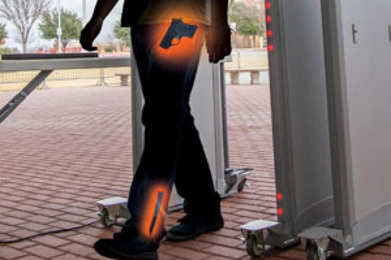 Armas detectadas com o detector MZ 6100 Garrett