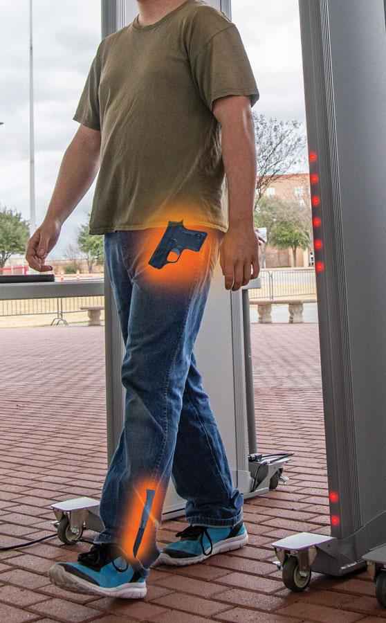 Segurança com o detector p[ortico MZ 6100 Garrett