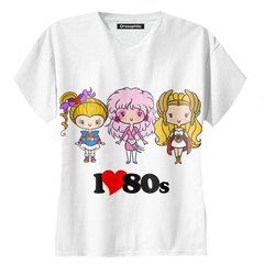Remera escote V Love 80s
