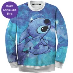 Buzo Women Stitch art blue