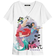 Remera escote V heart Strong