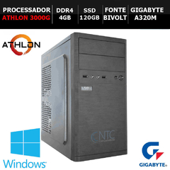 Microcomputador NTC PC AMD ATHLON - 5302 GAW10SL (Athlon3000G/4GB/SSD120/A320/W10SL/DDR4)