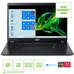 NOTEBOOK ACER 15,6 LED A315-42G-R6FZ / AMD RYZEN 5 3500U / 8GB / 1TB / W10 HOME / RADEON 540X 2GB