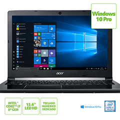 NOTEBOOK ACER 15,6 LED A515-51-C2TQ / I7-8550U / 8GB / 1TB / W10 PRO