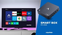 SMART TV BOX AQUARIO STV-2000 ANDROID 7.1.2 C/ CONTROLE na internet