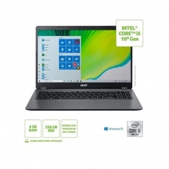 "Notebook Acer Aspire A315-54-561D (Core i5 / 10210U / 4GB RAM / SSD 256GB / Windows 10 Home / Tela 15.6"")"