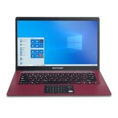 "Notebook Multilaser Legacy Cloud INTEL Z8530 2GB RAM / 32GB Windows 10 Home Tela 14"" HD Vermelho PC133"