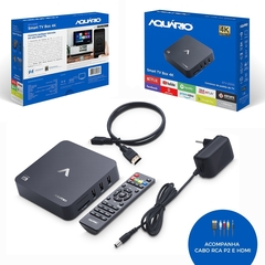 SMART TV BOX AQUARIO STV-2000 ANDROID 7.1.2 C/ CONTROLE - comprar online