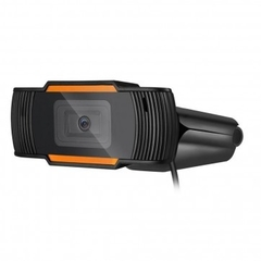 WebCam HD 480P C/Microfone USB Preto/Laranja na internet