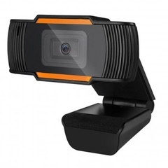 WebCam HD 480P C/Microfone USB Preto/Laranja