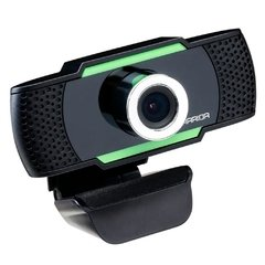 WebCam Gamer Multilaser Warrior Maeve 1080P Preta/Verde AC340