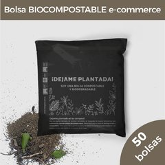 BOLSA ECOMMERCE BIOCOMPOSTABLE (28X30+4) NEGRO (50U)