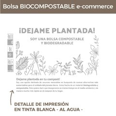 BOLSA ECOMMERCE BIOCOMPOSTABLE (28X30+4) NEGRO (50U) en internet