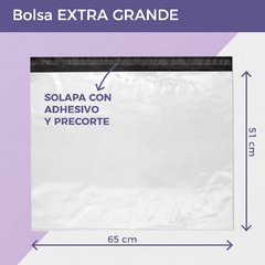 BOLSA E-COMMERCE EXTRA GRANDE x50 (65X51+4) - RECICLABLE en internet