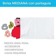 Imagen de BOLSA E-COMMERCE MEDIANA C/PORTAGUIA x100 (28X44+5) -  RECICLABLE