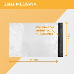 BOLSA E-COMMERCE MEDIANA x500 (28x44+5) - SUSTENTABLE en internet
