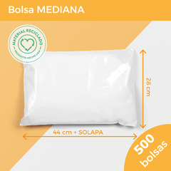 BOLSA E-COMMERCE MEDIANA x500 (28x44+5) - SUSTENTABLE