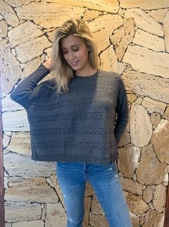Art. 6252 Sweater Oversize con laterales abiertos