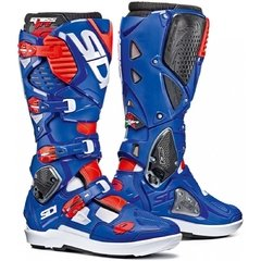 Botas motocross Sidi Crossfire 3 SRS White, Blue and Red Fluo