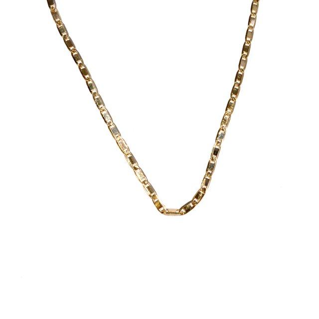 554e91bb34e Cordão Piastrine 60 cm Folheado a Ouro 18k
