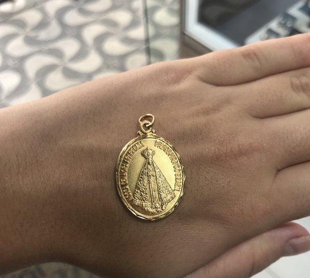 32bb42532c6c5 ... Pingente Nossa Senhora Aparecida Folheado a Ouro 18k - comprar online  ...