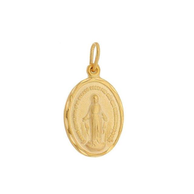 9af13d2f9 Pingente Medalha Nossa Senhora Das Graças Folheado A Ouro 18k