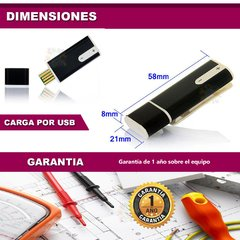 Mini Grabador Voz Digital Microfono Mp3 Oculto 8gb