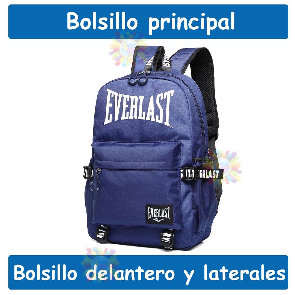 7368d9f333693 Mochila Everlast Urbana Deportiva Antirrobo Gimnasio Azul 19643