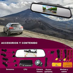 Espejo camara con sensor de estacionamiento TFT LCD Color Monitor Assistant Parking Sensor