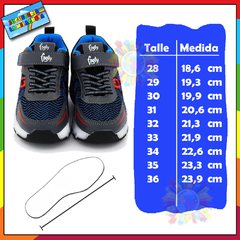 Zapatilla Footy con ruedas y luces led recargables ROLL402