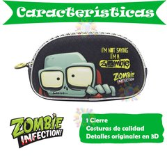 Cartuchera Zombie Infection 1 cierre 3D Cresko OM008