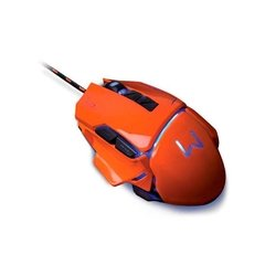 Mouse Warrior Gamer 3200 DPI Laranja USB Multilaser - MO263 - comprar online