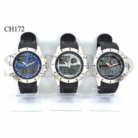 c222d6f40938 Reloj Soho Analago-digital Sumergible Malla De Goma C  Gtia