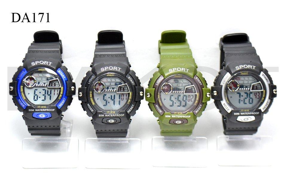 4b888df47666 Reloj Dakot Vintage Malla De Caucho No Sumergible