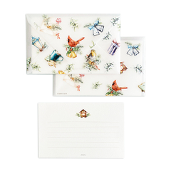 Cute Christmas Birds Card