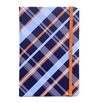 Notebook Grande - Marine and Orange Checkered Pattern - measure 14x21cm