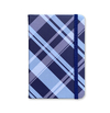 Notebook Medium - Checkered Marine Pattern and Light Blue - measure 12x18cm