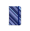 Notebook Small - Navy Striped Pattern with Gray - measure 9x14cm