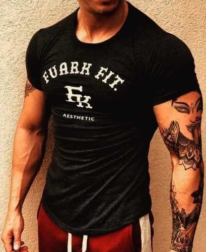 Remera Fuark Aesthetic Gym Fitness Culturismo Crossfit