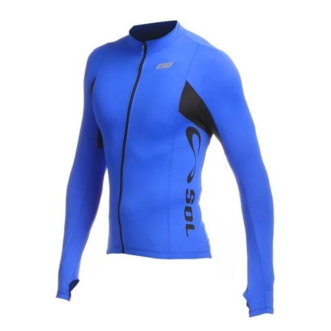 Blusa Ciclista ML New Challenge Azul Royal Masculino - Sol Sports - Pepplay Esportes