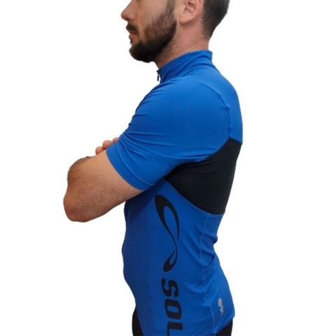 Blusa Ciclista MC New Challenge Azul Royal Masculino - Sol Sports na internet