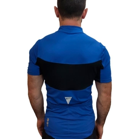 Blusa Ciclista MC New Challenge Azul Royal Masculino - Sol Sports - comprar online