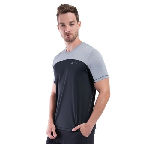 Camiseta Training Preto/Grafite Masculino - Sol Sports