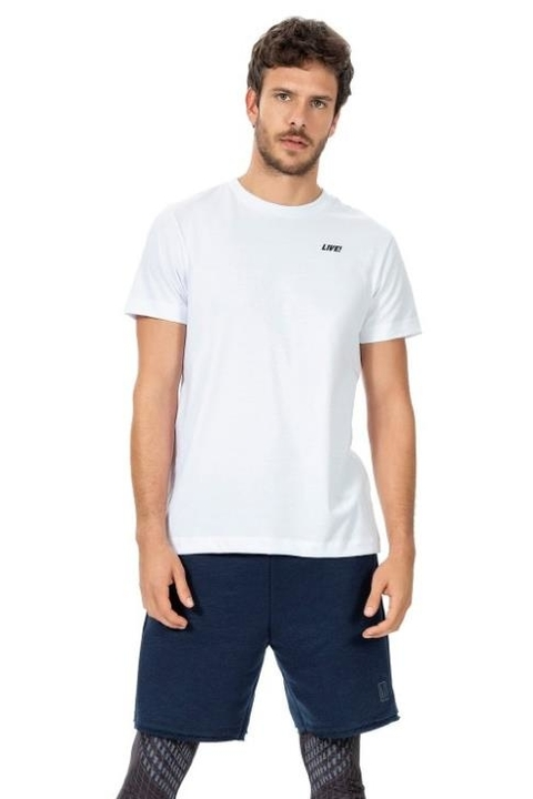 Camiseta Action Branco Masculino - Live!