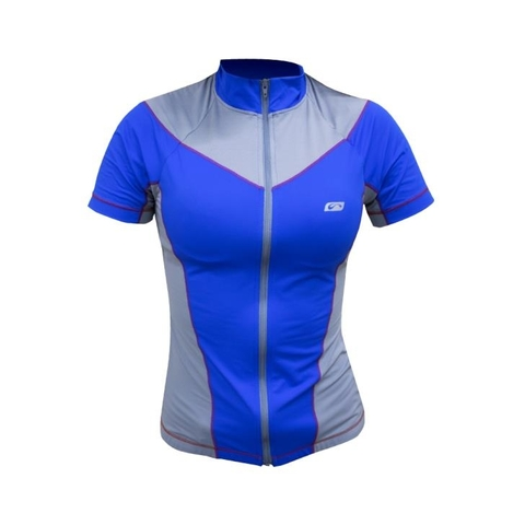 Blusa Ciclista MC Athlete Azul Royal Feminino - Sol Sports