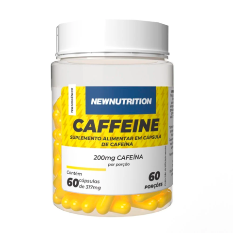 Cafeína 200mg 60 caps - NewNutrition